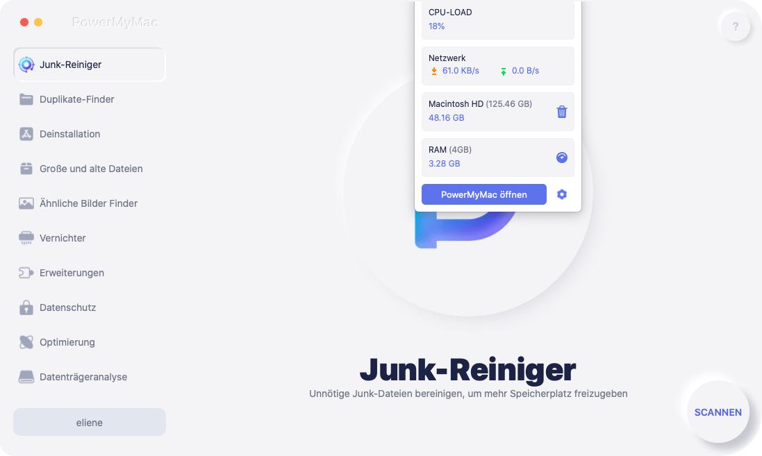 Überprüfen Sie den Systemstatus des Mac