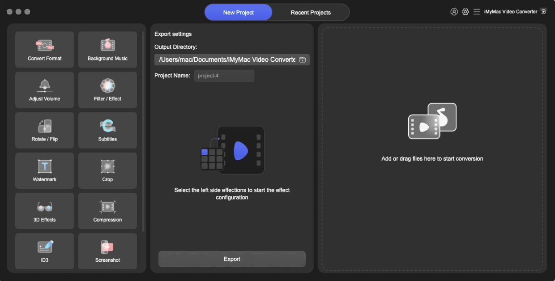 Laden Sie den iMyMac Video Converter herunter, installieren Sie ihn und starten Sie ihn