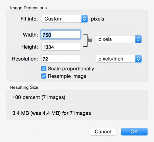 Ändern Sie die Größe mehrerer Bilder von Mac