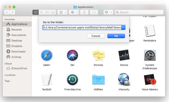 Manuelles Löschen von Anhängen in Mac Mail im Finder