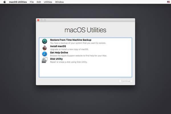 Macos Utilities-Fenster