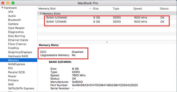 Überprüfen Sie, ob Sie mehr RAM auf Ihrem Mac unterbringen können