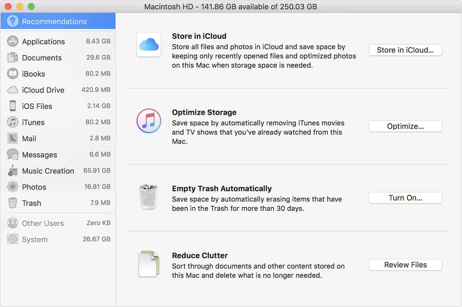 """Suchen Sie große Dateien auf dem Mac, indem Sie Dateien in """"Unordnung reduzieren"""" überprüfen"""