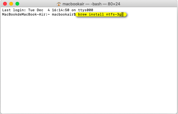 NTFS 3g-Installationscode