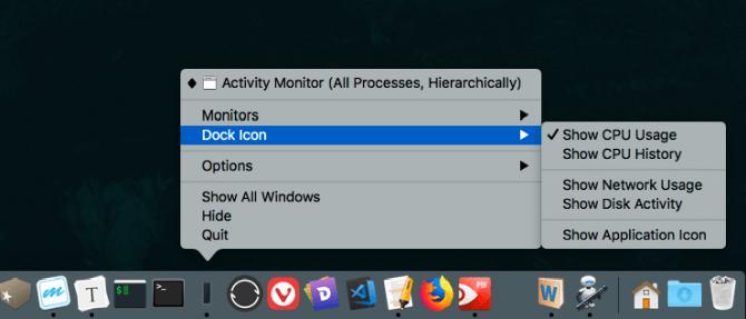 Anzeigen der CPU-Aktivität mit dem Aktivitätsmonitor