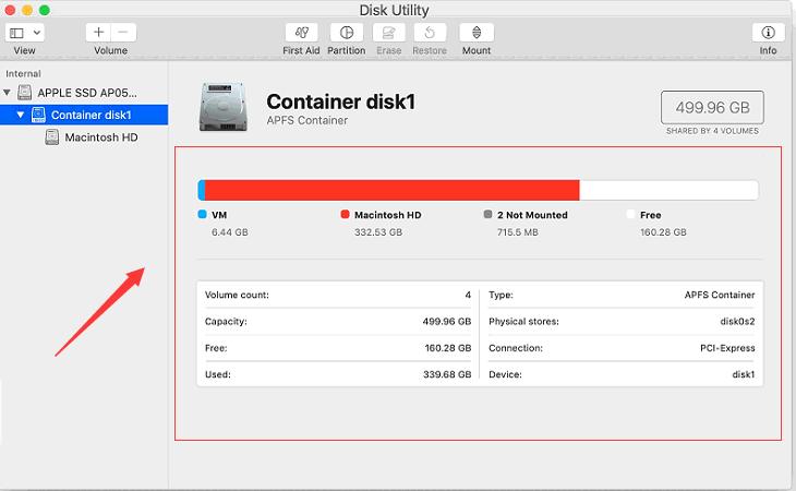 Überprüfen Sie Ihre Festplatte, um festzustellen, was Speicherplatz beansprucht, und suchen Sie nach Dateien