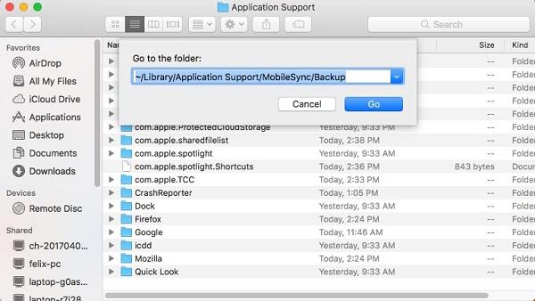Löschen Sie alte iOS-Backups