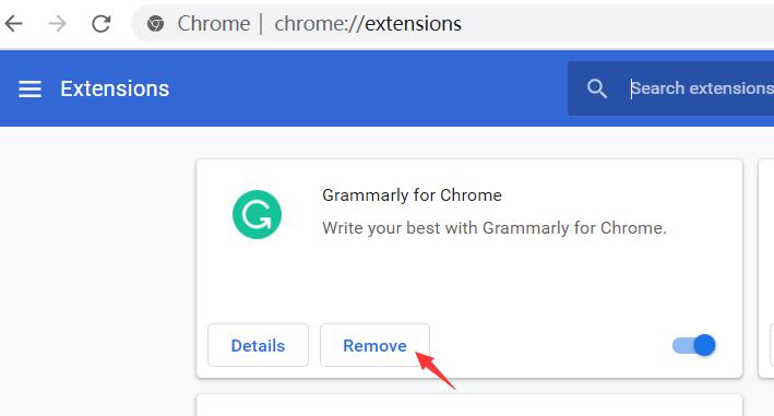 Chrome-Erweiterungen löschen