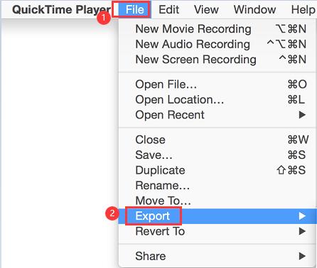 Konvertieren von MOV in MP4 auf einem Mac mit QuickTime 7 Pro